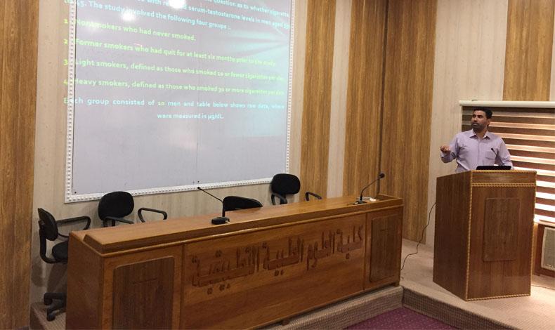 دورة تدريبية بعنوان ( تصميم وتحليل التجارب الطبية وتنظيم كتابة المراجع في البحوث العلمية بأستخدام برنامج Endnote